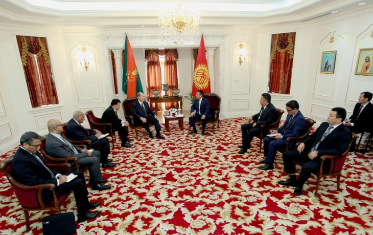 Kyrgyz Parliament Speaker Tursunbekov, Prince Aga Khan IV discuss bilateral ties