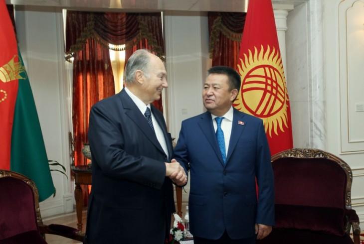 Kyrgyz Parliament Speaker Tursunbekov, Prince Aga Khan IV discuss bilateral ties