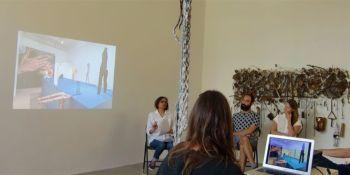 Zainub Verjee speaking at Critics Forum: 3 Critics, 3 Exhibitions in Toronto