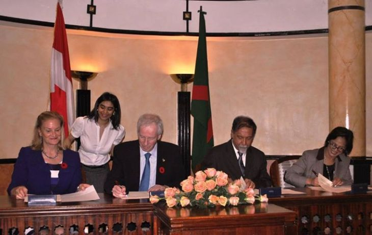 Canadian Minister of Foreign Affairs sign MoU with Aga Khan Development Network in Kenya