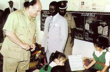 At Aga Khan School, Kisumu, Kenya, 1991.