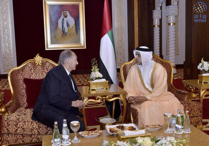 Deputy Prime Minister and Minister of Presidential Affairs of the United Arab Emirates receives Prince Aga Khan IV
