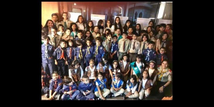 Ismaili Boy and Girl Scouts of Midwestern USA Jamat participates in Interfaith Thanksgiving Service