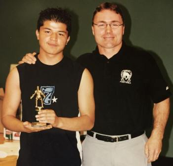 Highschool Athlete of the Year! Zardasht with Coach and mentor Mitch Chuvalo.