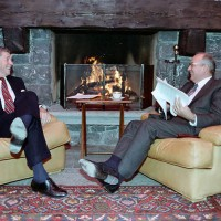Retrospective: This day in 1985, the Geneva Peace Summit: US & USSR Presidents, Reagan & Gorbachev met at His Highness Prince Karim Aga Khan's lakeside chateau