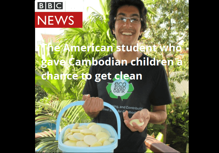 Samir Lakhani,Eco-Soap Bank project, featured on BBC