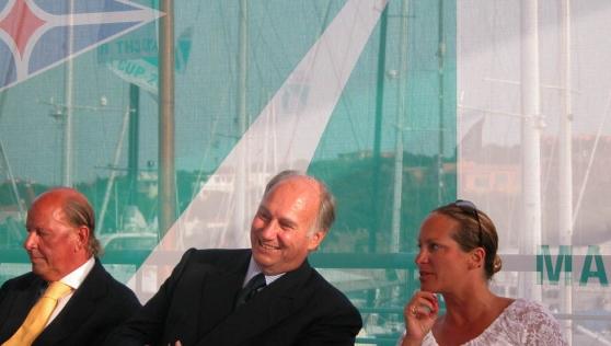 His Highness Prince Karim Aga Khan with his daughter, Princes Zahra at Sardinia's Yatch Club Costa Smeralda (Image credit: La Nuova)