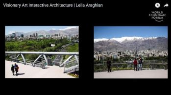 AKAA laureate Leila Araghian talks about her winning Tehran pedestrian bridge project at the World Economic Forum