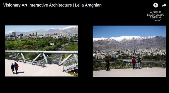 AKAA laureate Leila Araghian talks about her winning Tehran pedestrian bridge project at the World Economic Forum