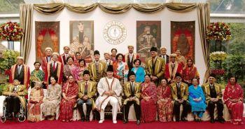 Amir Hameer (on eeft) in third row while attending Imam's golden Jubilee in aiglemont.