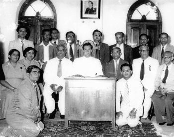 Amir Hameer(right in white suit) during Hazar Imam's visit to Zanzibar.