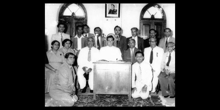 Amir Hameer (right in white suit) during Hazar Imam's visit to Zanzibar.