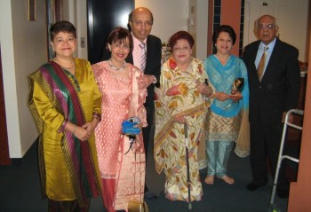 In the family photo, from left, Zubeda, Naseem, her husband Amir Nanji, Zarina, Shameem and Amirali