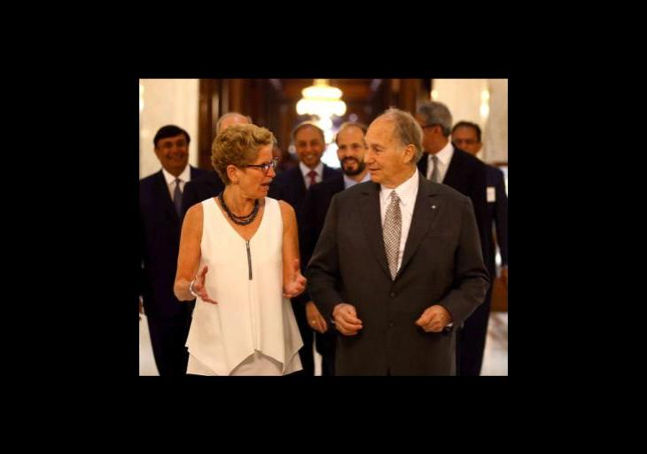 Premier of Ontario, Kathleen Wynne's message on the 80th birthday of His Highness the Aga Khan