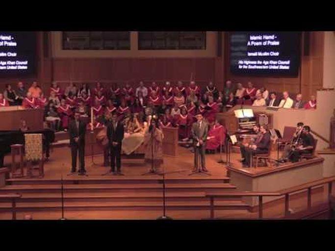 Ismaili Muslim Choir of Houston USA perform at Interfaith Thanksgiving Celebration