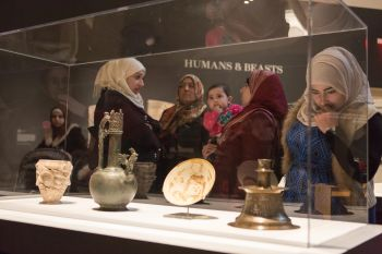 """Artful integration. """"Syria: A Living History,"""" at the Aga Khan Museum. (Institute for Canadian Citizenship / Andrew Williamson)"""