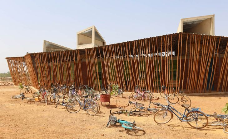 Ventilation systems are built into this Francis Kéré-designed building to deflect heat. (Image credit: Wallpaper*)