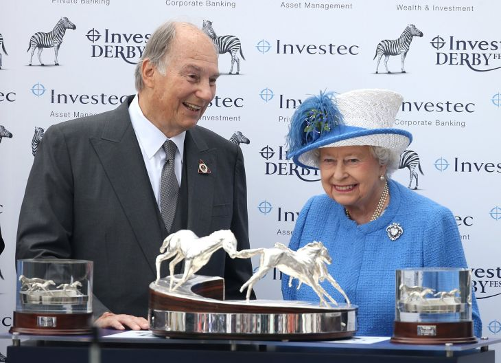 The Aga Khan was styled 'His Highness' by the Queen in 1957 (Image credit: Getty)