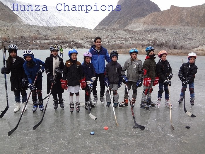 AKYSB Sports Fellowship Coaching Program 2017 in Hunza, with Canadian Hockey Player Omar Kanji