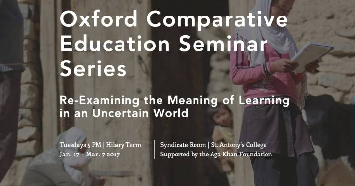 Learning in an uncertain world: University of Oxford and Aga Khan Foundation launches 8 weeks online seminar series