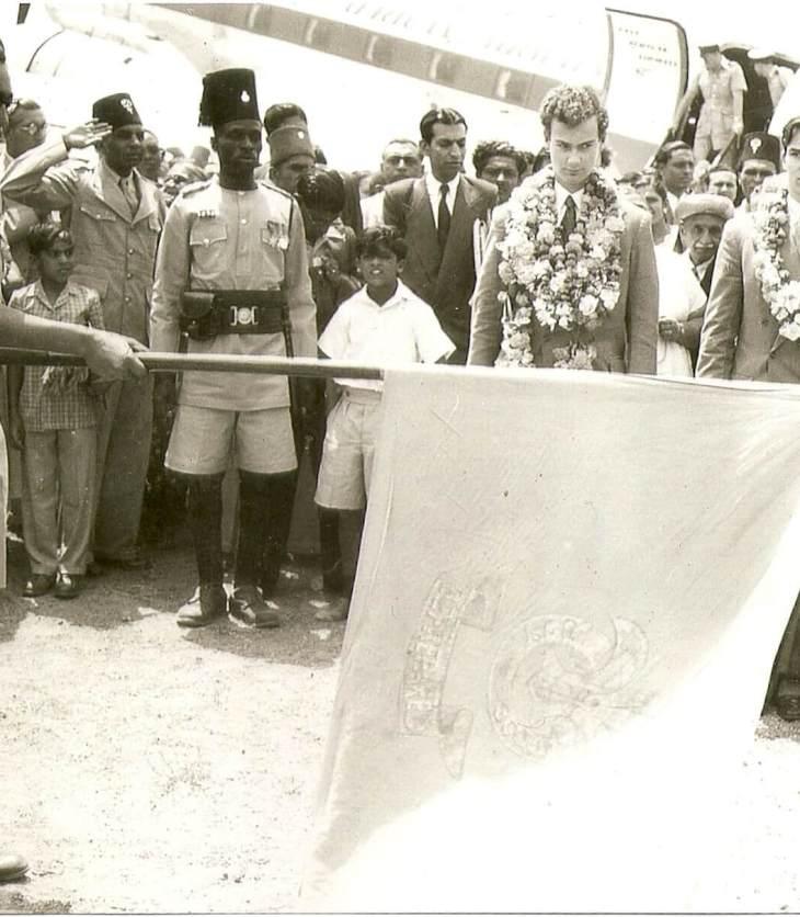 Rare 1954 Historical Photograph of Prince Karim & Prince Amyn Aga Khan - Dodoma, Tanganyika