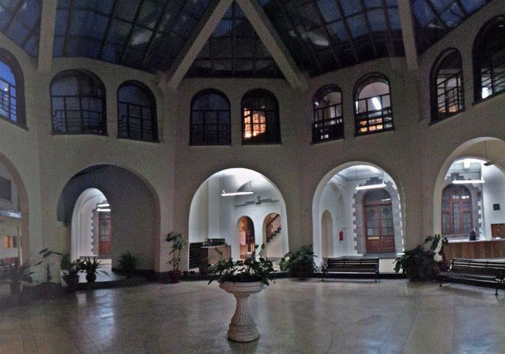 Inner courtyard of Town Jamatkhana. Nairobi, Kenya