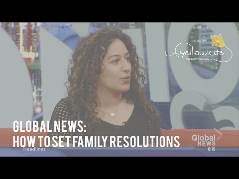 Child psychologist Soraya Lakhani on Global TV: How to set family resolutions