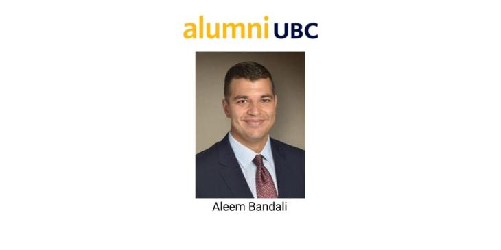 Aleem Bandali appointed to the Board of Directors of Alumni UBC
