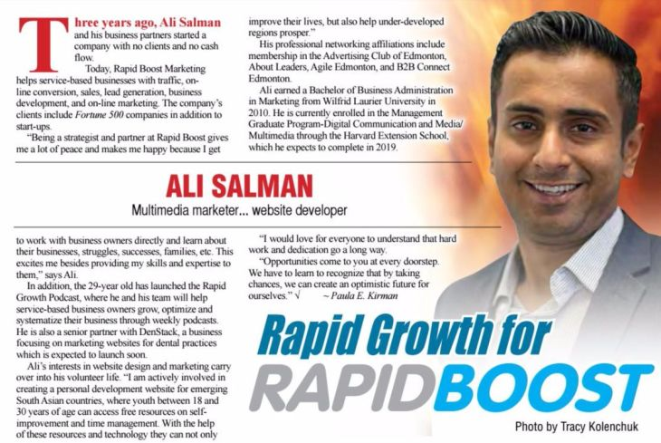 Ali Salman: Entrepreneur, Podcaster, Blogger and CMO at Rapid Boost