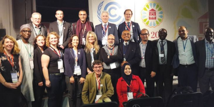Professor Amir Kassam at the COP22 Climate Change meeting in Marrakech, Morocco
