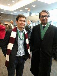 "With Pakistani Ambassador Mr.Jalil Abbas Jilani after attending the seminar on 'Pakistan -US relation and Way Forward"" at John Hopkins University."