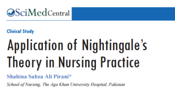 Application of Florence Nightingale's Theory in Nursing Practice, by Shahina Sabza Ali Pirani