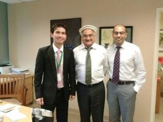 Last day in office with Mirza Jahan (CEO AKF USA) & Amin Virani (Executive Analyst AKF USA).