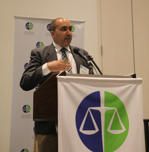 Lawyer Aleem Bharmal awarded President's Medal by Canadian Bar Association BC Branch
