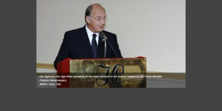 His Highness the Aga Khan: Our duty is to try to free people from poverty