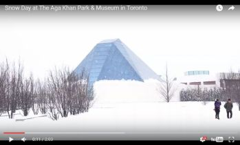 Snow Day at The Aga Khan Park & Museum in Toronto
