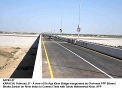 Government of Sindh (Pakistan) inaugurates Sir Aga Khan Bridge at Jhirk
