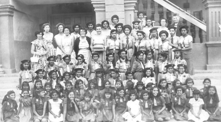 Here is a picture of the girls from the Agakhan School. My Mum is in the back row, fourth from the left.