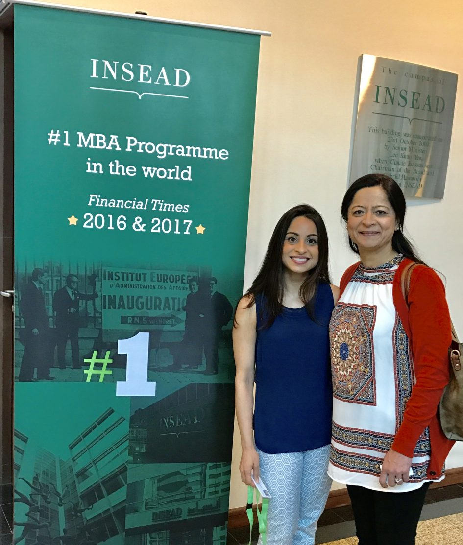 Sabrina Lakhani: The overwhelming joy of welcoming my mom to INSEAD