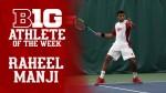 Raheel Manji Wins Big Ten Athlete of the Week for Men's Tennis