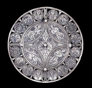 The Fuller Brooch, silver and niello, 9th century. Trustees of the British Museum