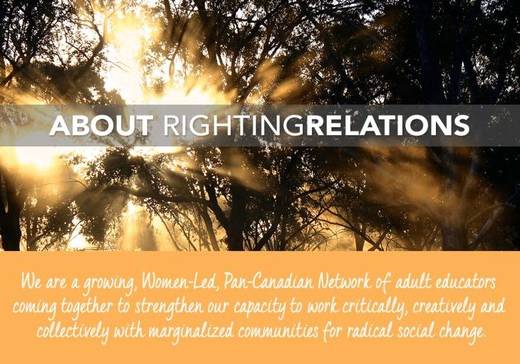 Rehana Tejpar, National Program Facilitator: Righting Relations Initiative for Adult Education for Social Change