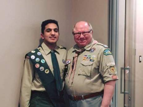Rafi with Eagle Scout coordinator Robert Payne