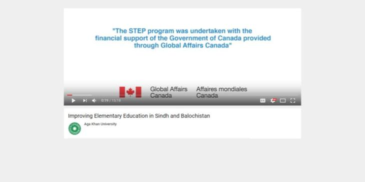 STEP - Strengthening Teacher Education in Pakistan (Aga Khan University in Partnership with Global Affairs Canada)