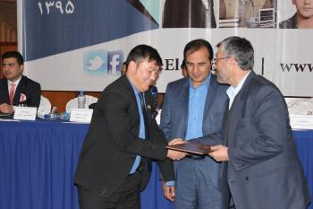 Abdul Ghaffar Nazari receives Young Successful Figure of the Year Award
