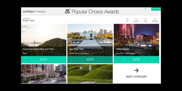 Vote & Support: Final day to vote (Aga Khan Park) Architizer A+Awards