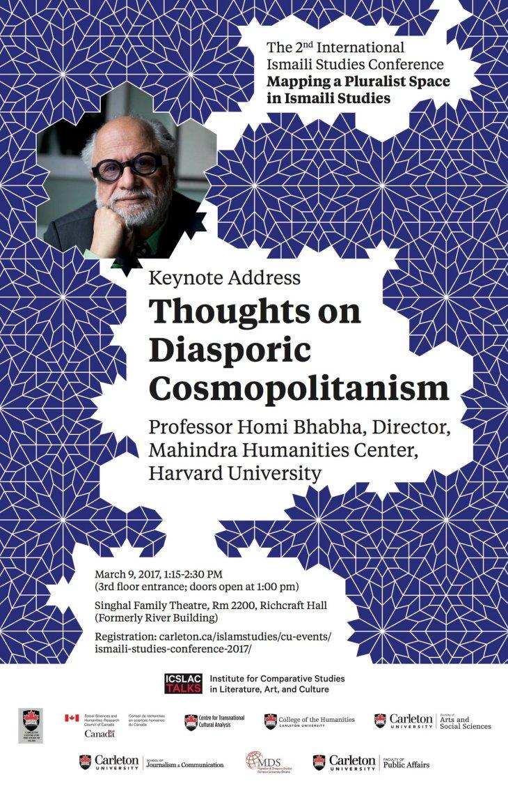 (Live Tweets) Ismaili Studies Conference Keynote Address by Dr. Homi K. Bhabha, Director Mahindra Humanities Center, Harvard University
