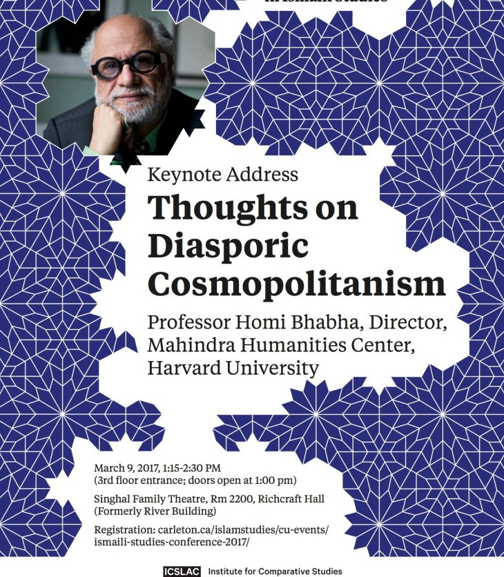 (Live Tweets) Ismaili Studies Conference Keynote Address by Dr. Homi K. Bhabha, Director Mahindra Humanities Center, Harvard University