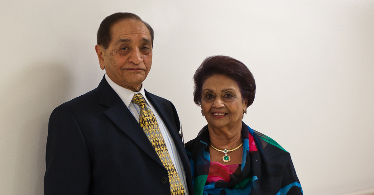 Gulshan and Pyarali Nanji: Sharing the wealth of their new life