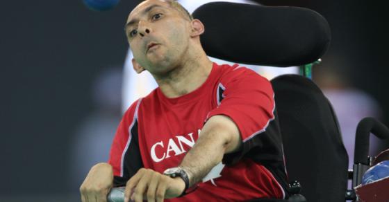 Paralympics athlete Hanif Mawji gets Silver at the 2017 Boccia championship